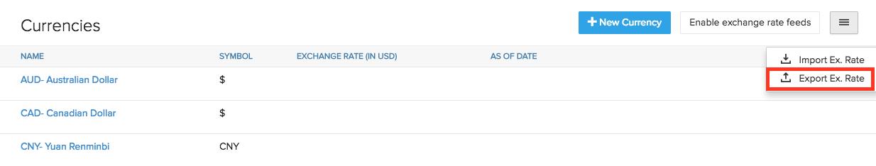 Export Exchange Rate