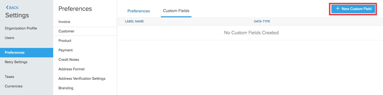 Customer Custom Field 1