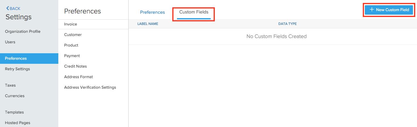 Invoice Custom Field 1