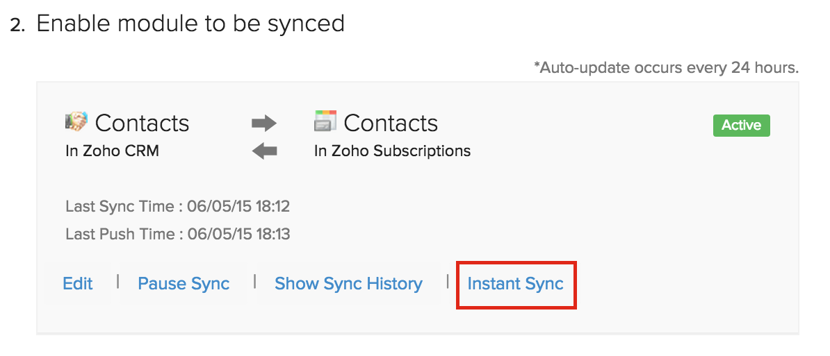 Fetch contact from Zoho CRM