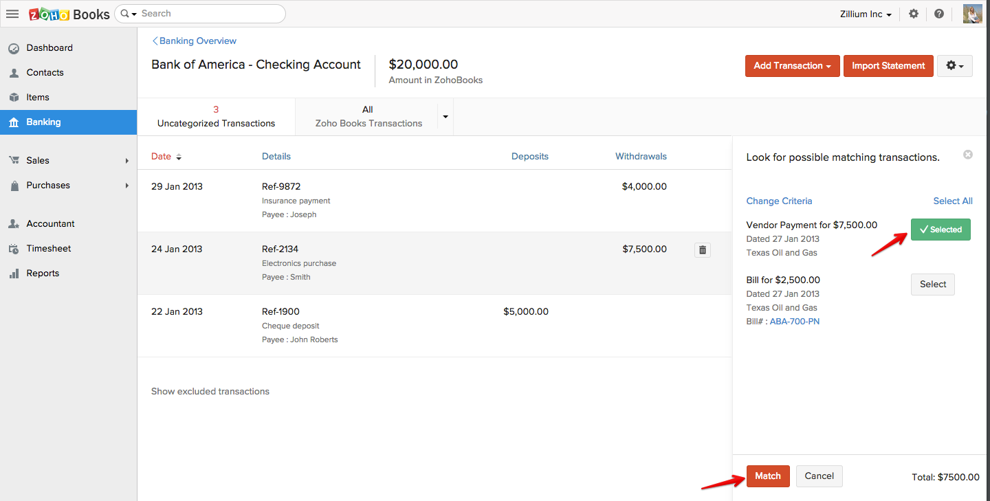 Check Register How To Write If You Have Not Integrated Zoho Books With A  Bank Account