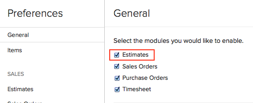 Enabling new Estimate