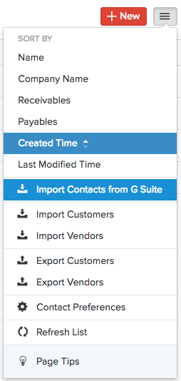 Import Contacts Gapps Menu