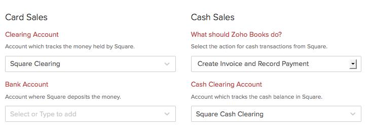Card & Cash Sales