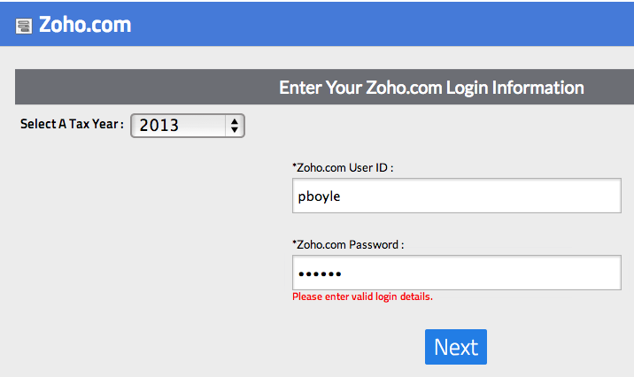 Zoho Login
