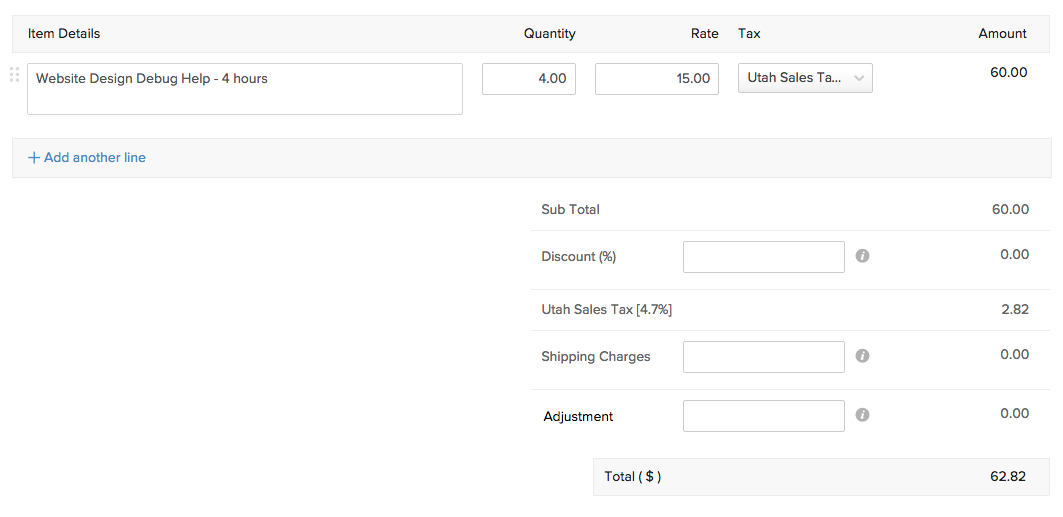 Service as Items in your invoice