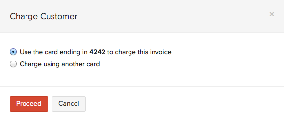 Charge Customer
