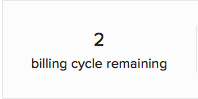 Billing cycle remaining