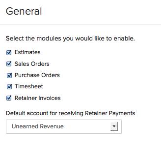 Enabling Retainer Invoice