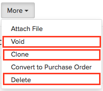 Other Actions in sales order