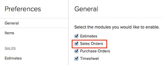 Enable Sales Order