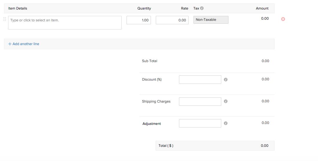 Sales order - New Item