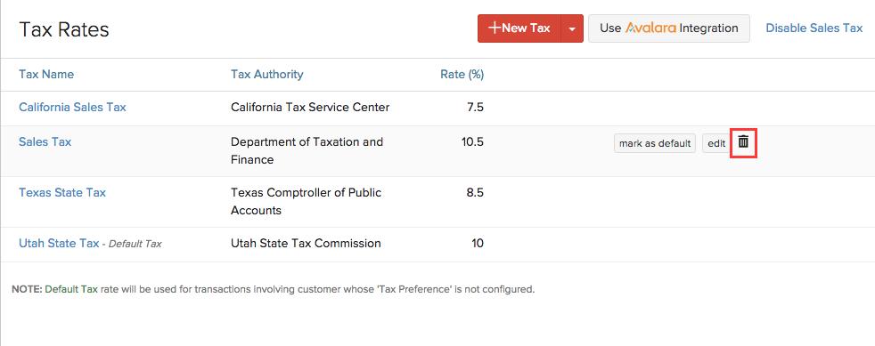 Delete tax