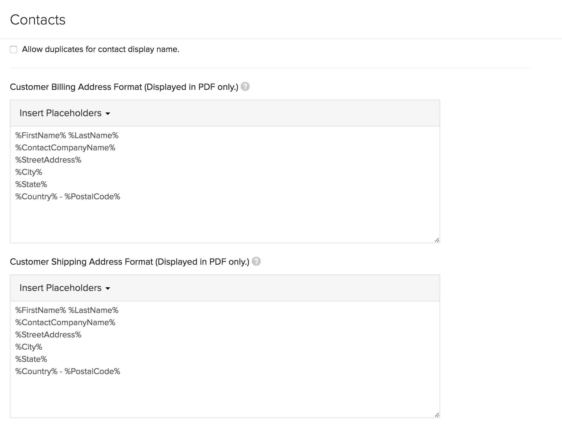 Contact Preferences