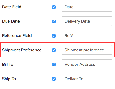 Purchase Order Specific