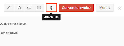 Attaching Files to an estimate