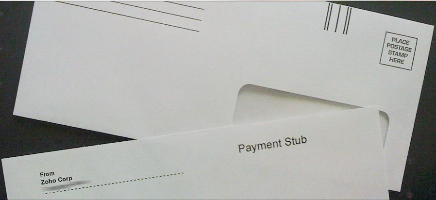 Snail Mail Sample invoice