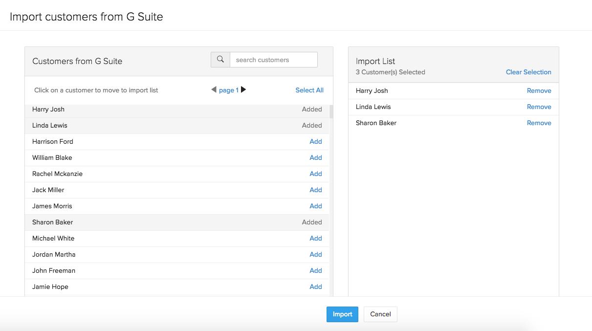 Invite Contacts G Suite