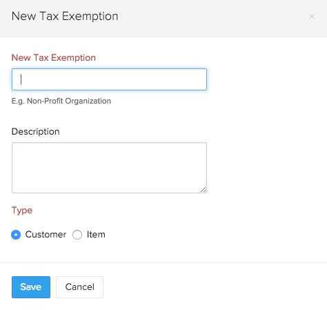 Tax Exemption