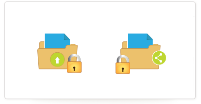 Securely store and share files and documents