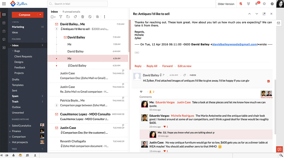 how to create one more templates on zoho mail