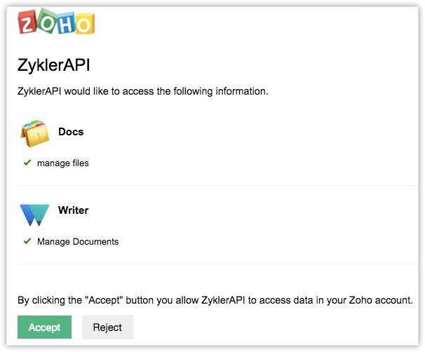 Zoho Writer | API Reference